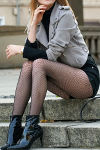Silky Dance Fishnet Pantyhose